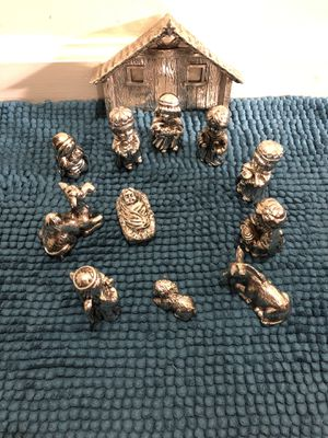 Miniature nativity Towle Silver set 12 pieces for Sale in Falls Church, VA