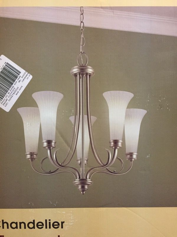 Portfolio 5 Light Chandelier Antique Pewter Finish Model 0394128 For In Greenwood Offerup