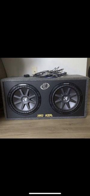 Photo Kicker brand car speaker with ampliphiar