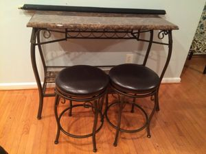 Wine table with bar stools for Sale in Zion Crossroads, VA