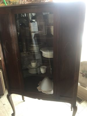 Antique china cabinet 5 ft tall 34 wide for Sale in South Bend, IN