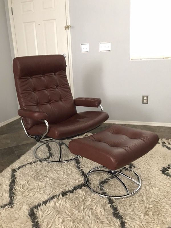 Vintage Ekornes Stressless Lounge Chair And Ottoman Made In Norway Las Vegas