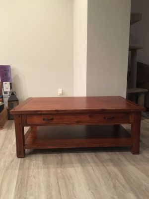 World Market Madera Coffee Table Like New Condition For Sale In