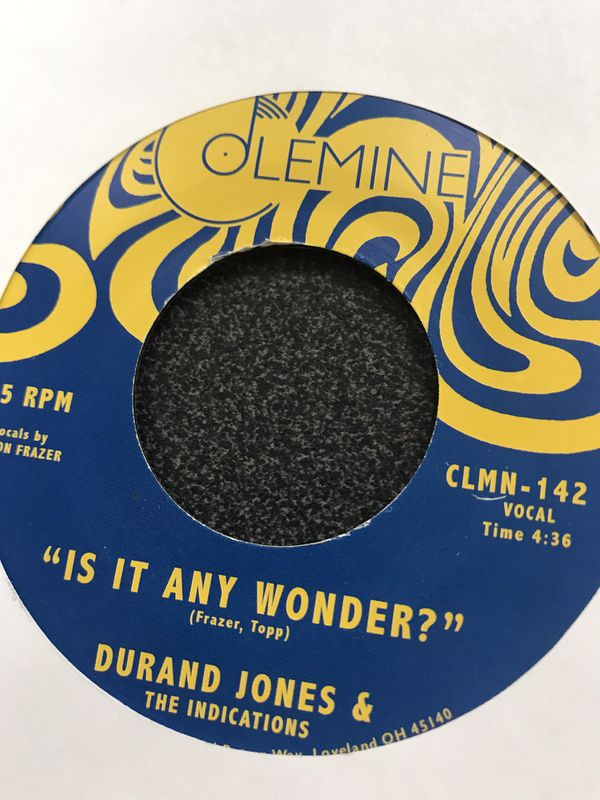 Durand Jones 45 is it any wonder SOUL SINGLE for Sale in Corona, CA -  OfferUp