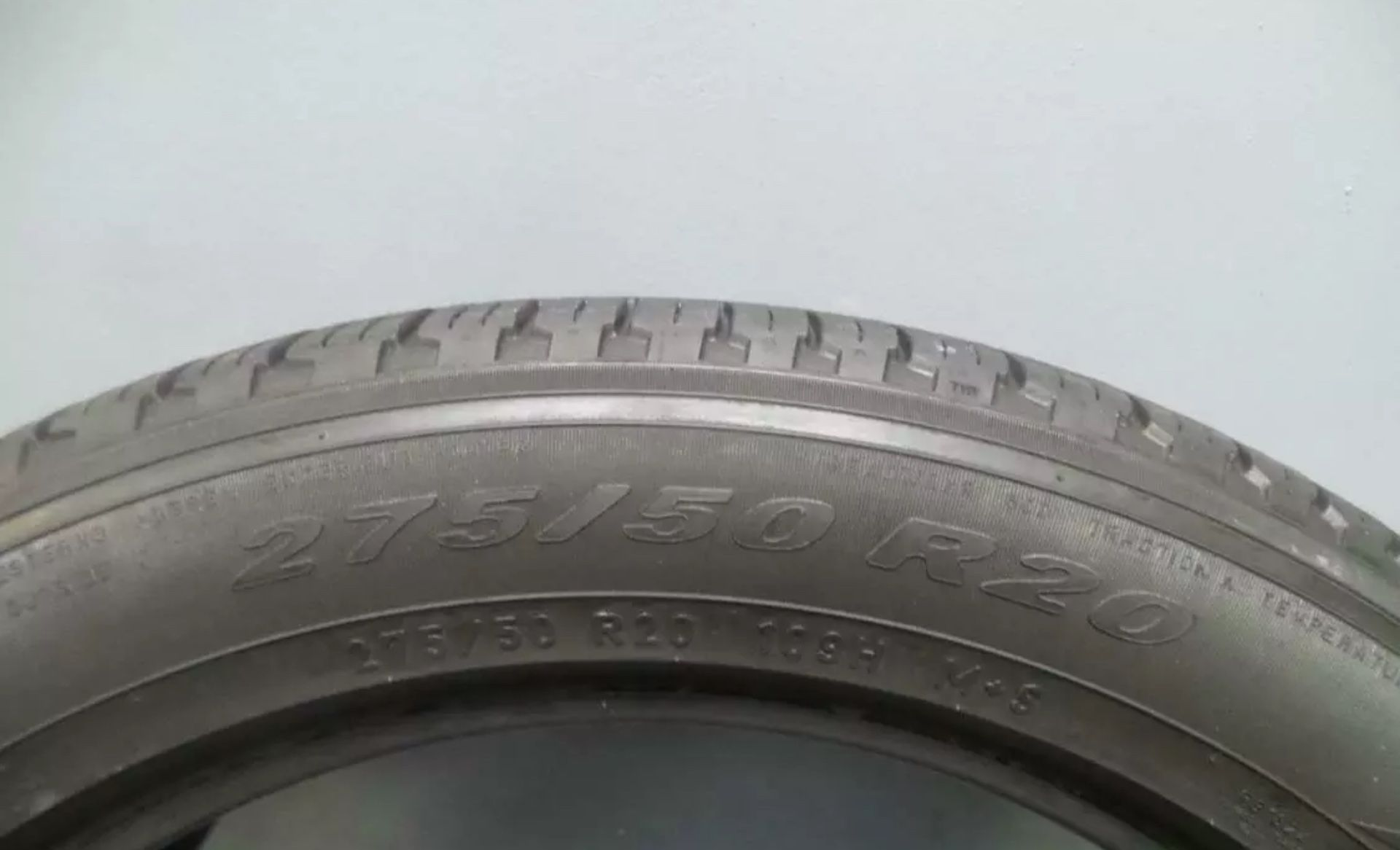 Used 275 50 20 Pirelli Scorpion Verde A/S MO With 75% Tread 6/32 109H #8189