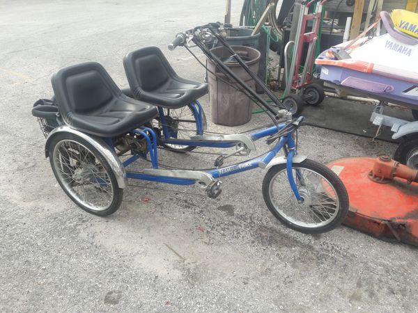 Three-wheel two-seater bicycle with 50cc motor for Sale in Holiday, FL -  OfferUp
