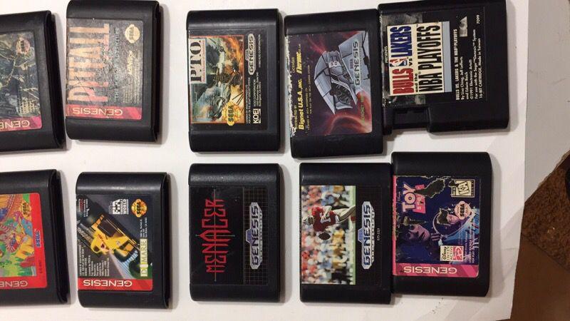 Loose sega Genesis games