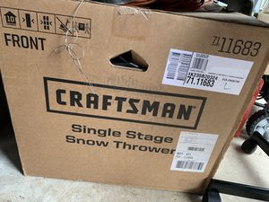 Photo Craftsman single stage snow thrower 31a-2M5e799 (model number)