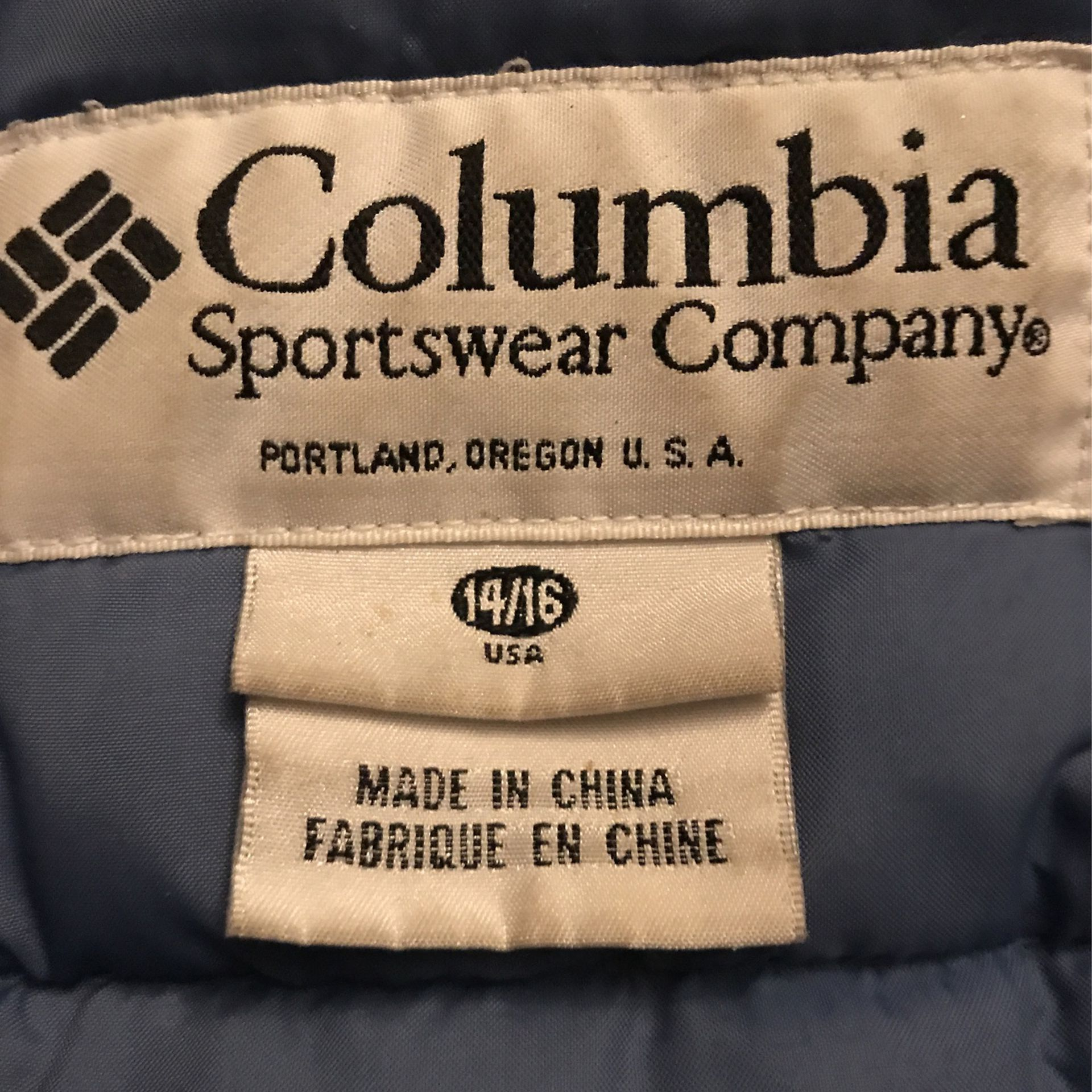 Columbia Blue And Yellow Winter Coat (size 14/16)