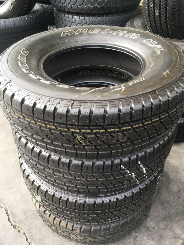 235 75 15 Bridgestone Dueler Seminew All 4 Tires Have 96 Of Life