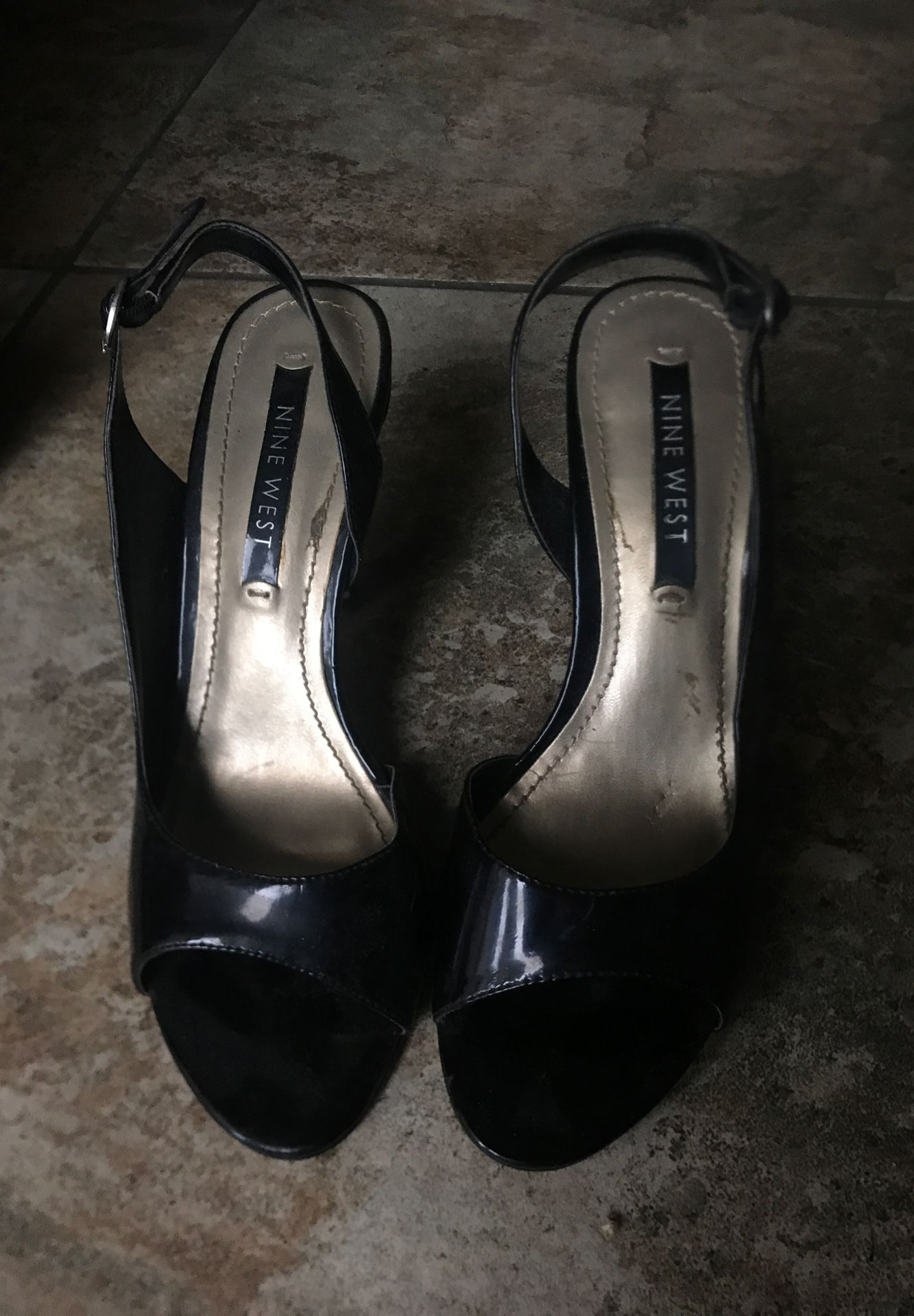 Nine West Black Heels (Size 7)