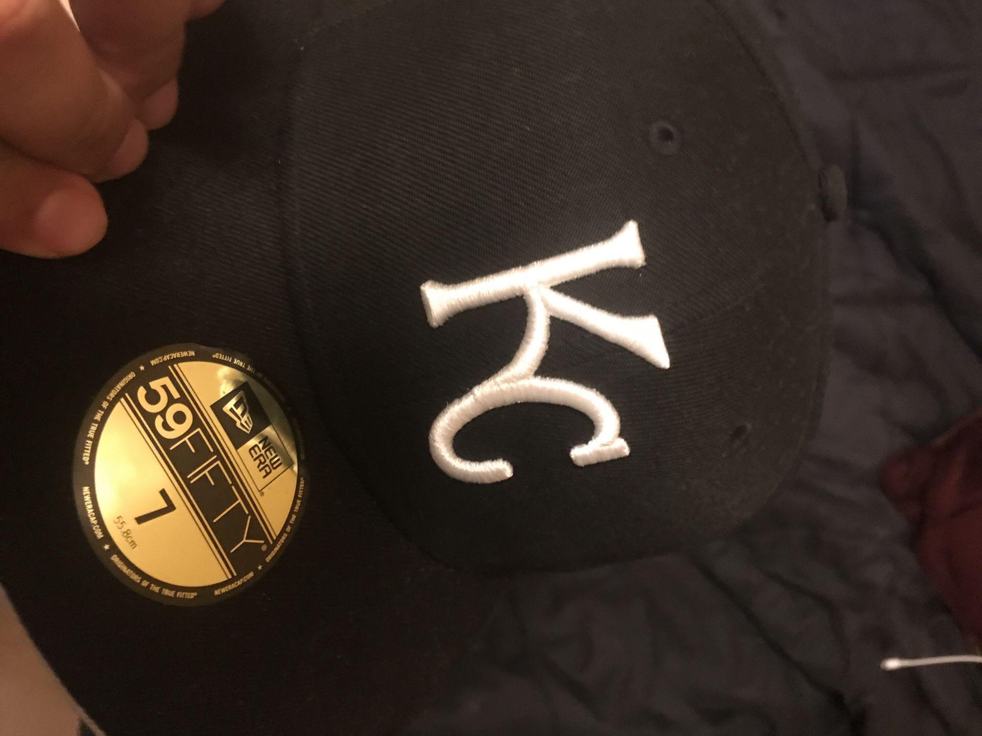Black KC hat. Size 7 brand new still