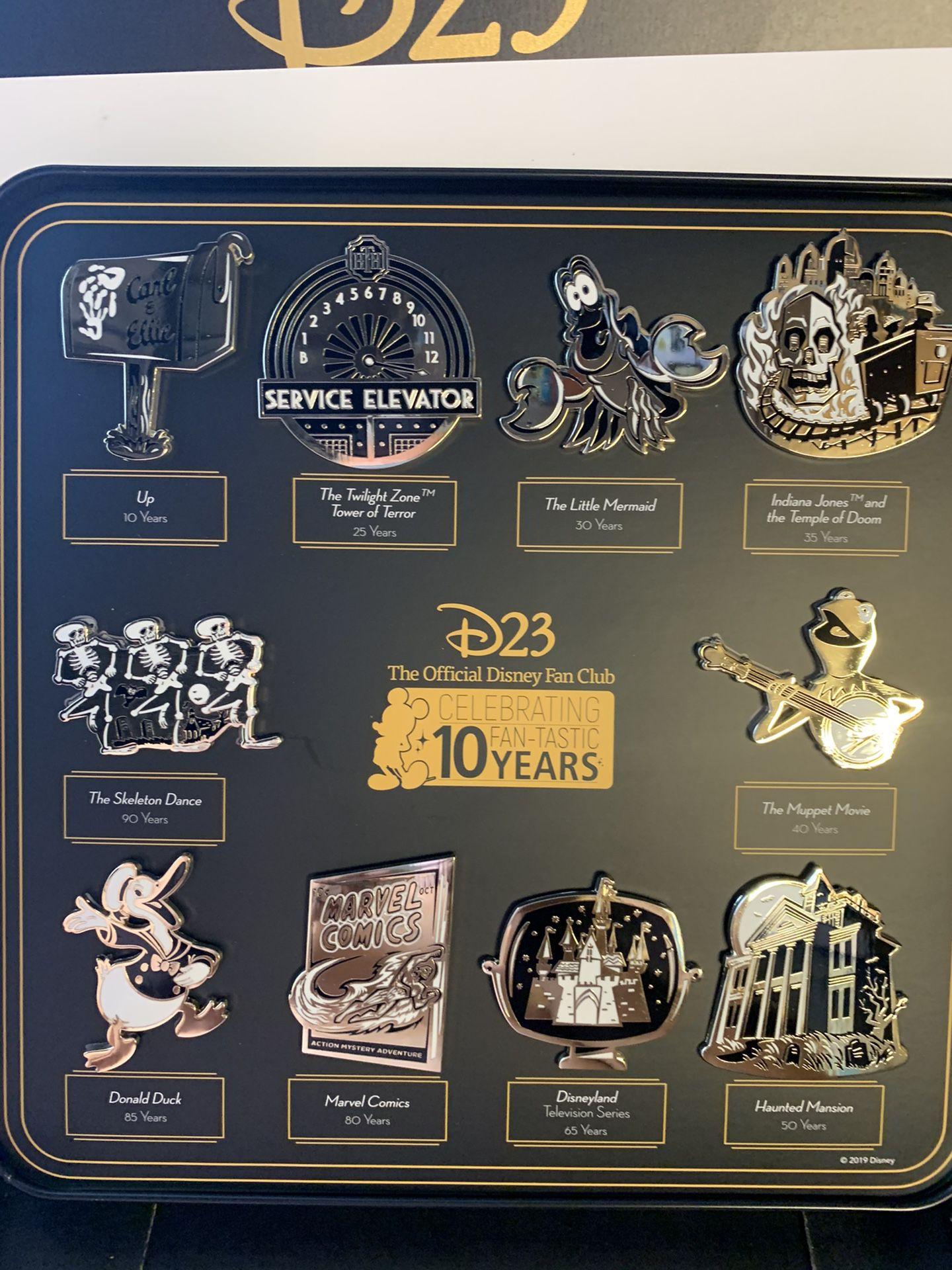 Disney D23 2019 Fan Club 10 Pins