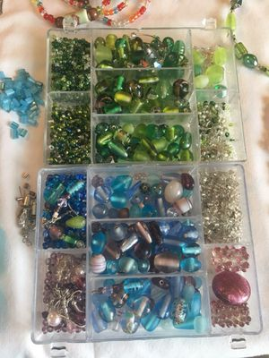 Swarovski, glass and pearl beads for jewelry making for Sale in Haymarket, VA