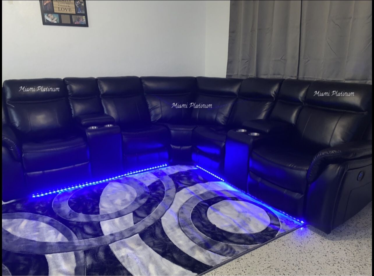 Sectional With Lights /// Financing Available