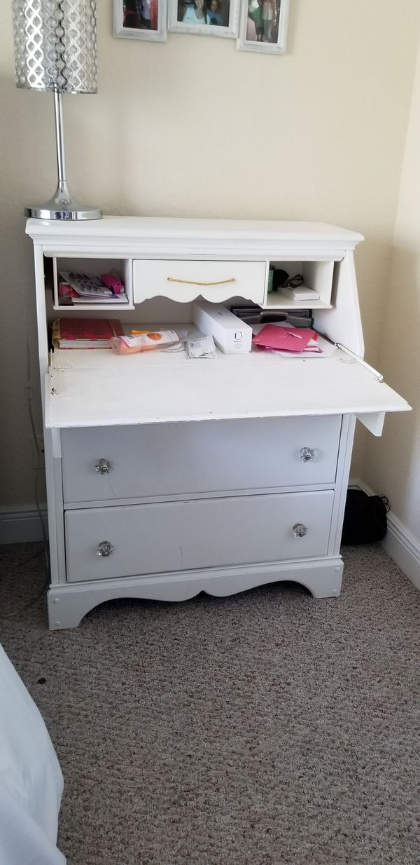 Shabby Chic Coastal Living Solid Wood White Secretary Desk For In Boynton Beach Fl Offerup