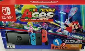 Nintendo Switch Gaming Console with Neon Blue and Neon Red Joy-Con Mario Tennis Aces Nintendo Switch for Sale in Arlington, VA