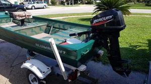 Jon boat 9.9 mercury outboard for Sale in Longwood, FL