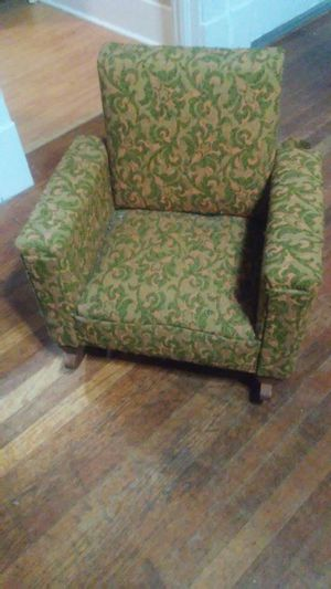 Vintage upholstered children's rocking chair for Sale in Tacoma, WA