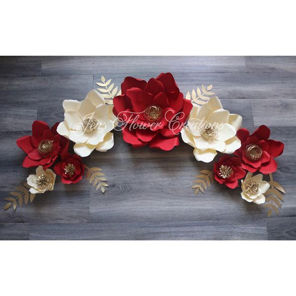Red And Gold Large Paper Flowers For Sale In Los Angeles Ca Offerup