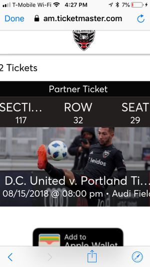 Soccer tickets for Sale in Washington, DC