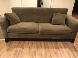 Olive green couch for Sale in Washington, DC