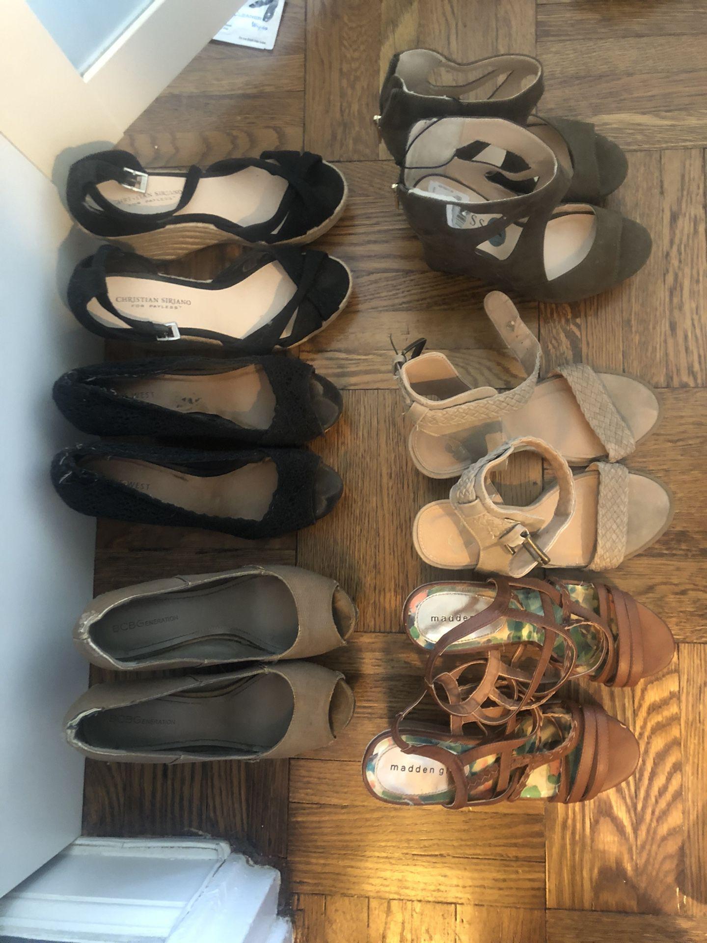 Various Wedge Heels - $1 to $5