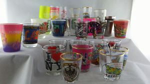 Lot of 30 shot glasses souvenirs for Sale in Jamestown, NC