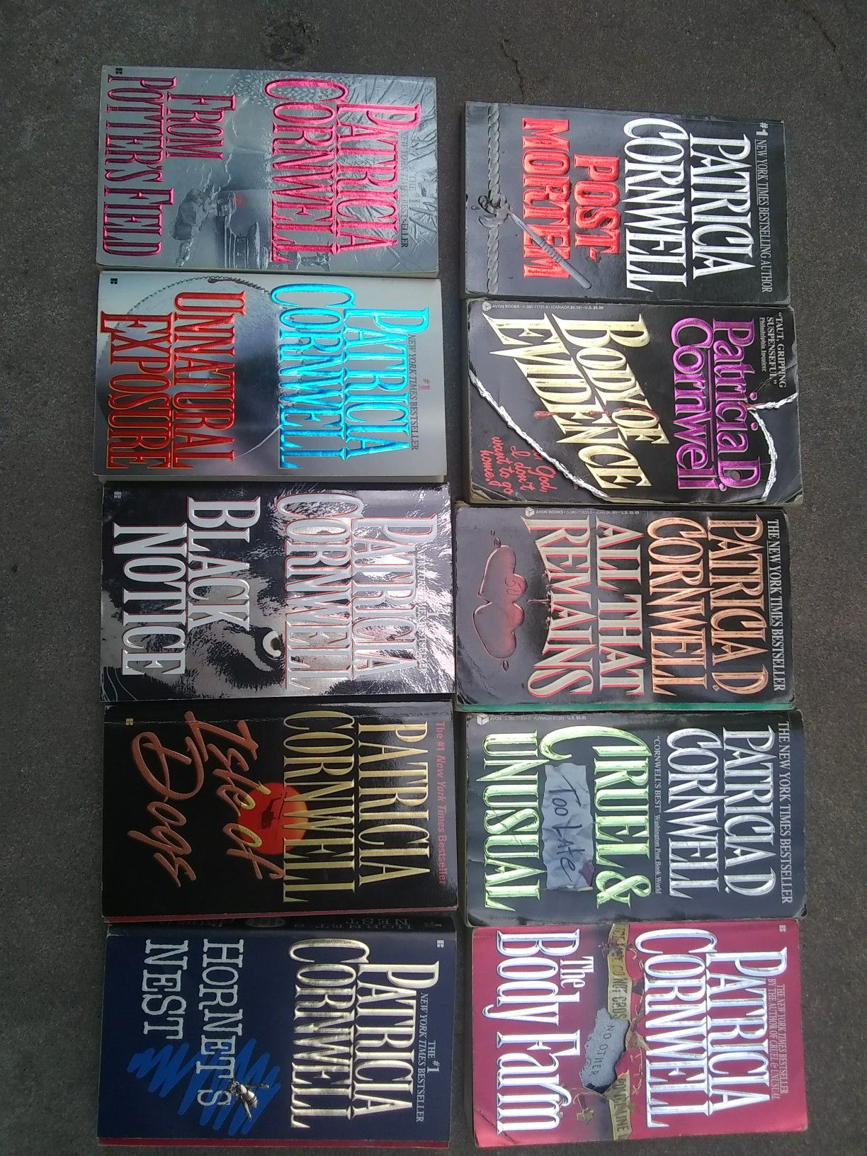 10 Patricia Cornwell books