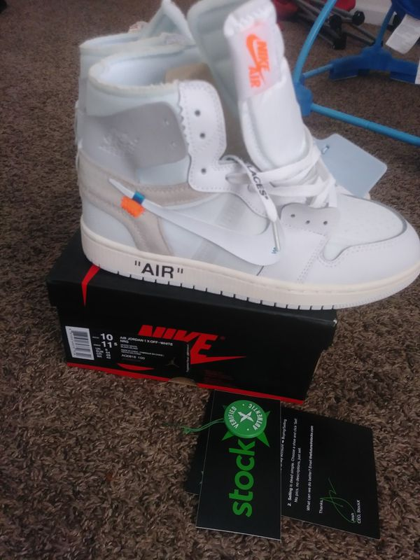 ed6336183d9f Jordan 1 off white nrg for Sale in Bakersfield