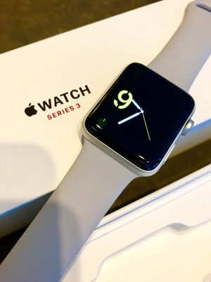 Apple Watch Series 3 (gps + CELLULAR), 42mm with Fog Sport Band - Silver Aluminum for Sale in Arlington, VA