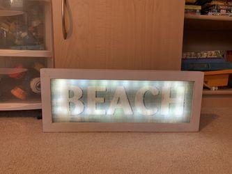 """""""BEACH"""" light-up sign Thumbnail"""