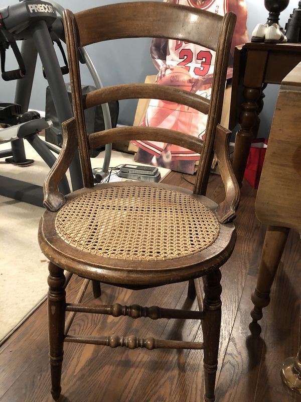 Set Of Two Cane Seat Antique Wooden Chairs For Sale In Lake Forest Il Offerup