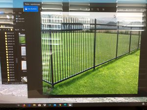 Photo Four Powder Coated Steel Fence Panels New in Boxes