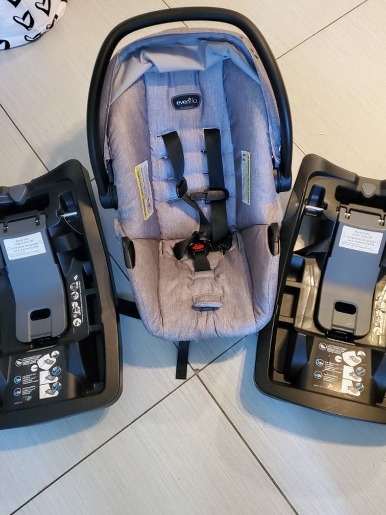 Evenflow Infant Car Seat With 2 Bases