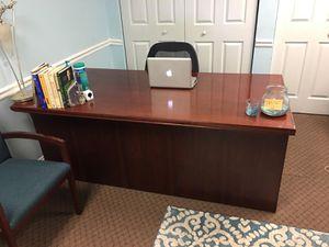 large red oak reception office desk for Sale in Atlanta, GA