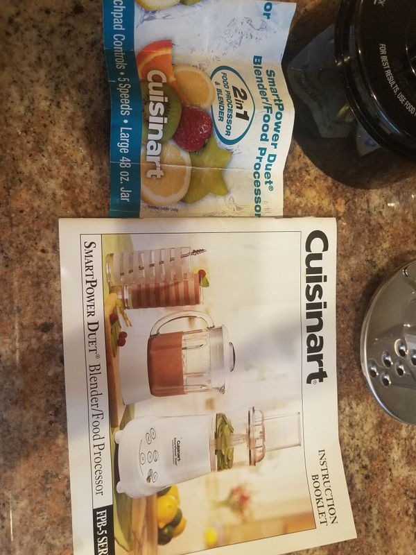 Cuisinart duet blender and food processor has manual and recipe cuisinart duet blender and food processor has manual and recipe book appliances in murrieta ca offerup forumfinder Image collections