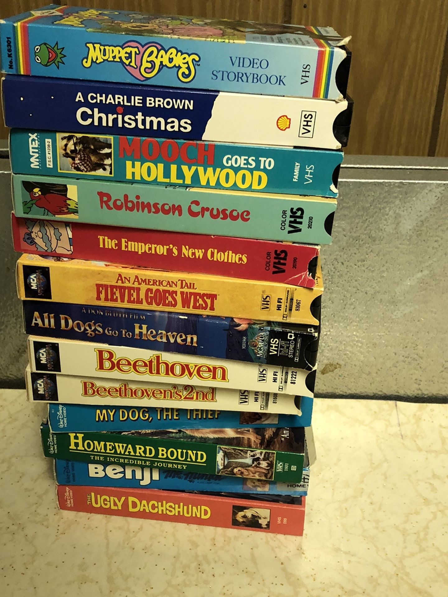 Assorted Children's VCR Tapes $2 Each