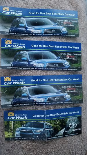 4 Brown Bear Essentials Carwash with no exp for Sale in Kirkland, WA