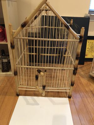 Large Bird cage bamboo hand make for Sale in North Potomac, MD