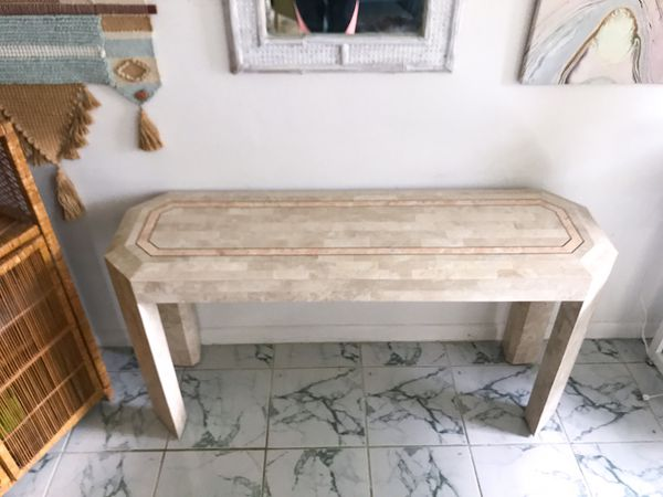 Maitland Smith Tessellated Coral and Marble Console Table for Sale in Fort  Lauderdale, FL - OfferUp