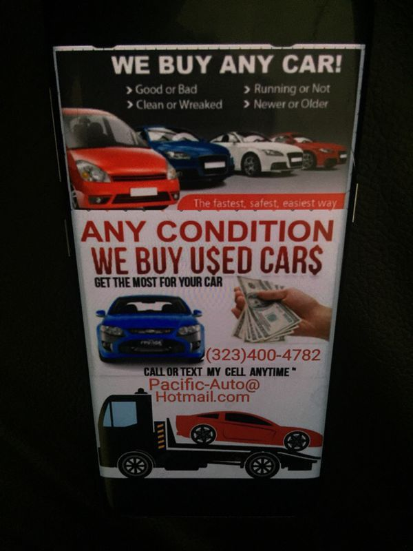 we buy cars $$ Cars For Cash $$ good & Junk Cars $$ compro carros ...