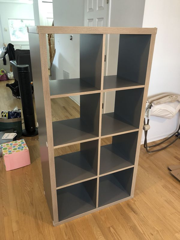 low priced 44ded fd8ad Ikea Kallax Shelf Unit - Gray, wood effect for Sale in IL, US - OfferUp