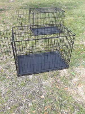 Photo 2 Dog Cage with Tray in good condition ( 17 w x 24 L x 19 height ) 40... EACH