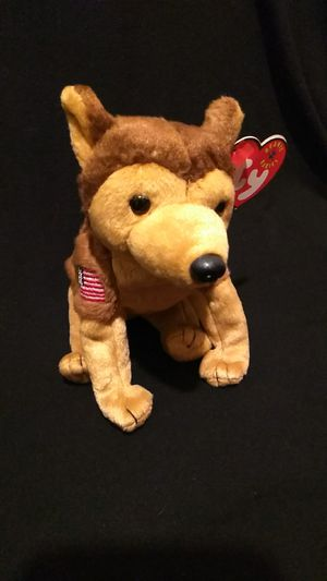 Mint Condition Retired 2001 Ty Beanie Babies Courage The German Shepherd With Flag NYPD September 11th Commemorative With Swing Tags for Sale in Gresham, OR