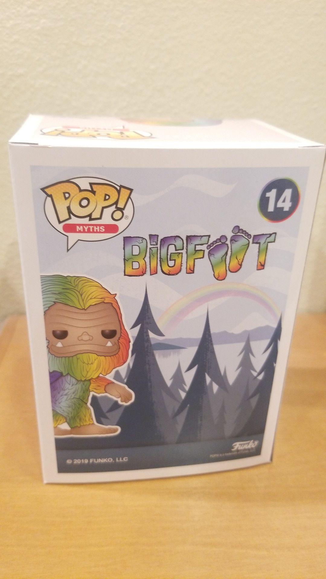 Funko pop Bigfoot Rainbow new