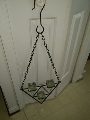 Heavy hanging metal and glass tea light holder for Sale in Franconia, VA