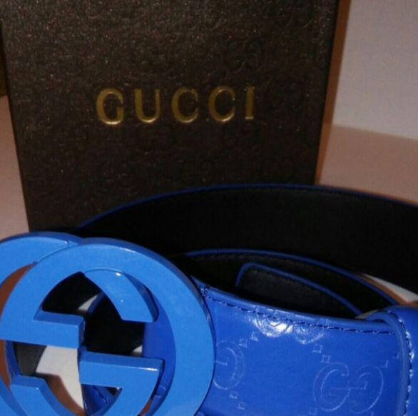 5999a737e92c7 Rare Gucci Belt All Blue for Sale in Walton Hills