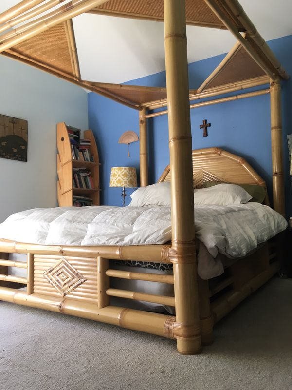 Bamboo Tiki Exotic Queen Bed Frame For Sale In San Diego Ca Offerup