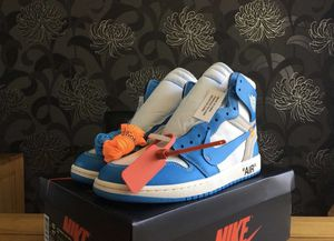 Photo Off White Jordan 1 UNC